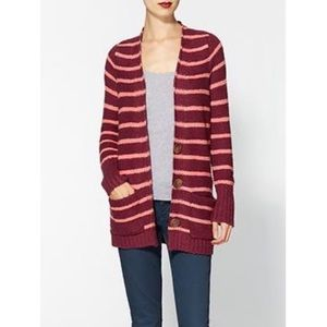 Free People cozy striped cardigan